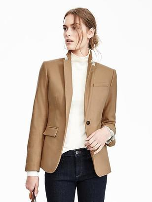 Camel Italian Flannel Blazer $228 thestylecure.com
