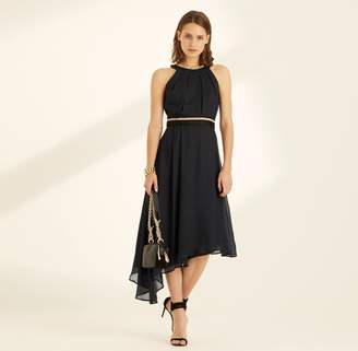 Amanda Wakeley Midnight Lame Cocktail Dress