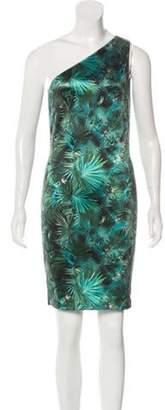 Jean Paul Gaultier One-Shoulder Printed Dress Green One-Shoulder Printed Dress