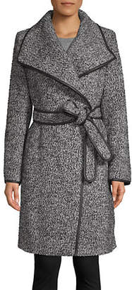 DKNY Self-Tie Wool-Blend Coat