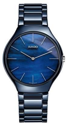Rado True Thinline Ceramic Bracelet Watch, 39mm