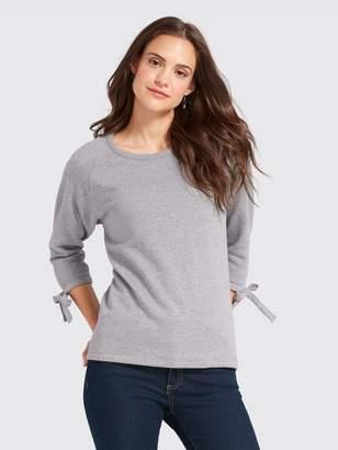 Draper James Solid Tie Sleeve Sweatshirt