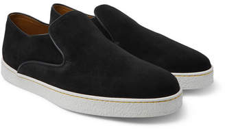 John Lobb Haven Suede Slip-On Sneakers - Men - Black
