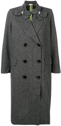 Manoush double breasted check coat