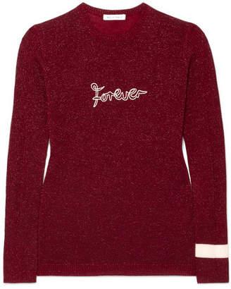 Bella Freud Forever Metallic Wool-blend Sweater - Burgundy