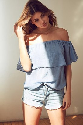 Kimchi Blue Erin Off-The-Shoulder Ruffle Top $59 thestylecure.com