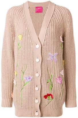 Blumarine floral appliqués cardigan