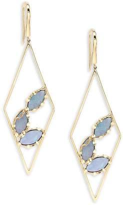 Lana Women's Diamond Prix Opal Drop Earrings