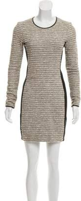 Veronica Beard Bouclé Paneled Dress