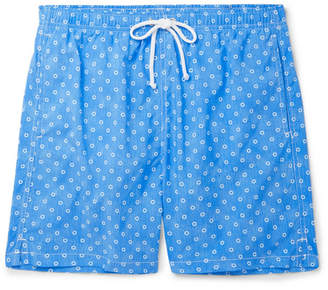 Anderson & Sheppard Slim-Fit Mid-Length Floral-Print Swim Shorts