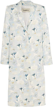 Claudia Li Floral Long Coat