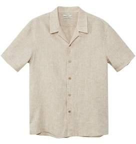 Mango man MANGO MAN 100% linen short sleeve shirt