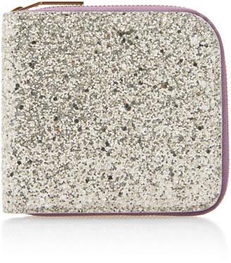 Victoria Beckham Glittered Cotton-Canvas Wallet