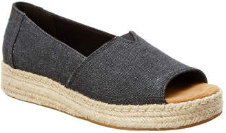 Toms Women's Alpargata Platform Open Toe Slip-On