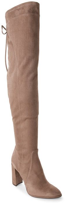 marc fisher Taupe Faux Suede Over-the-Knee Boots