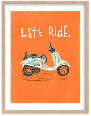 Pottery Barn Kids Let's Ride Wall Art by Minted® 11x14, White