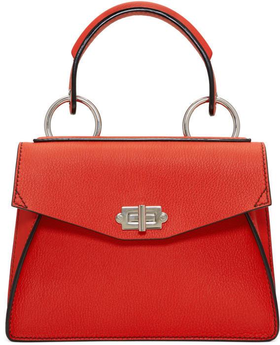 Proenza Schouler Red Small Hava Top Handle Bag