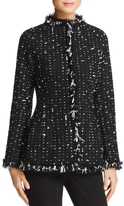Paule Ka Fringed Tweed Jacket