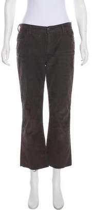 Current/Elliott Mid-Rise Corduroy Cropped Pants