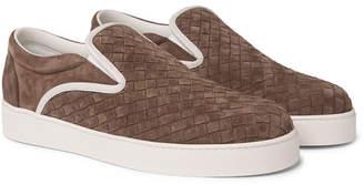 Bottega Veneta Dodger Leather-Trimmed Intrecciato Suede Slip-On Sneakers