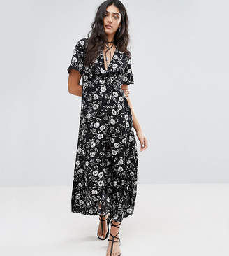 Glamorous Tall Maxi Dress In Oversized Floral