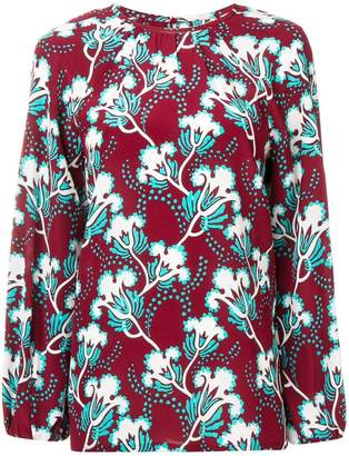 afedf3215551b3 Red Valentino Floral Blouse - ShopStyle