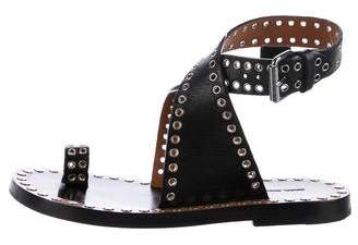 Isabel Marant Stud & Grommet-Embellished Leather Sandals