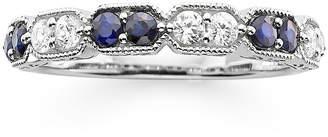 MODERN BRIDE I Said Yes 1/4 CT. T.W. Diamond and Lab-Created Blue Sapphire Wedding Band
