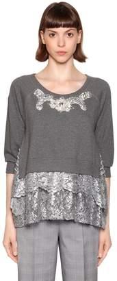 Antonio Marras Metallic Lace & Embellished Sweatshirt