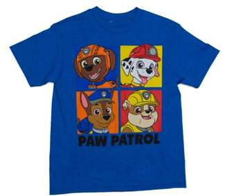 Paw Patrol Four Box Short Sleeve Crew Neck Tee Shirt (Little Boys & Big Boys)