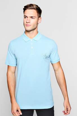 boohoo Short Sleeved BM Polo Pique Polo