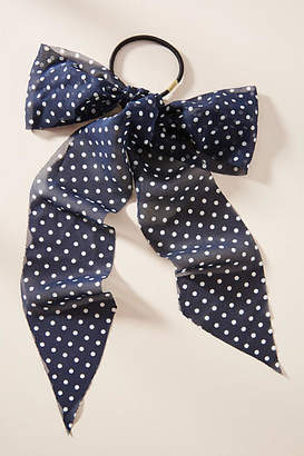 Anthropologie Dotted Scarf Hair Tie
