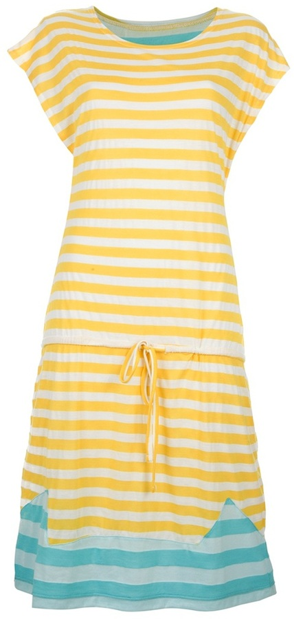 Tsumori Chisato Cats By striped jersey dress