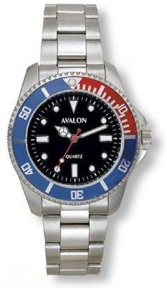 Avalon Men 'sクラシックスポーツシルバートーンWatch with Black Dial # 4302 – 3
