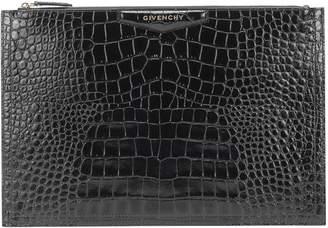 Givenchy Antigona croc-effect leather clutch