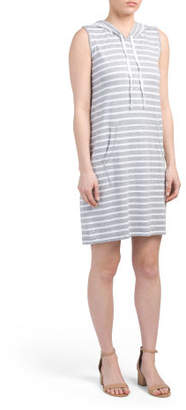 Double Stripe Soft French Terry Dress