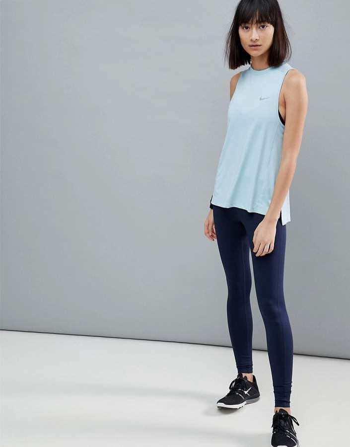 Nike Running – Dri-Fit Essential – Blaue Leggings
