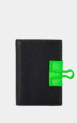 Off-White Women's Binder-Clip Folding Card Case - Black