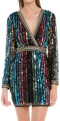 Endless Rose CH663D- MULTI COLORED SEQUIN DRESS