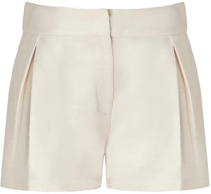 Saloni Ivory Silk Jute Shorts