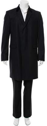 Burberry Longline Virgin Wool Overcoat