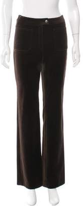 Barbara Bui Velvet Straight-Leg Pants