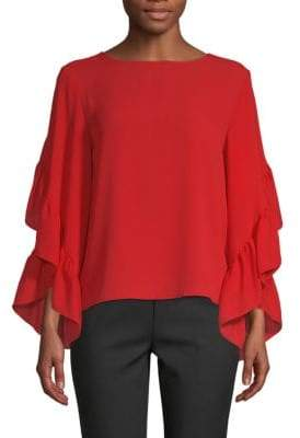 Saks Fifth Avenue Ruffle Sleeve Blouse