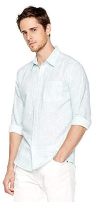 Isle Bay Linens Men's Slim-Fit Long-Sleeve Woven Shirt