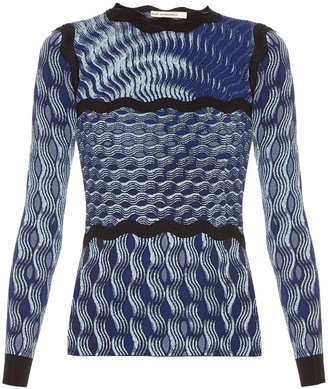 Rosalba long-sleeved knitted top
