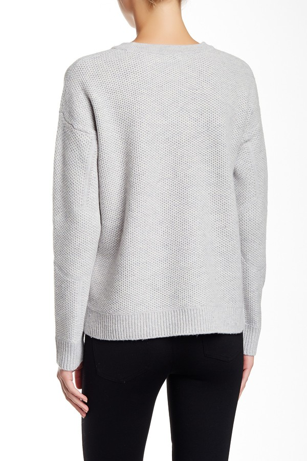 VINCE. Crew Neck Wool Blend Sweater 2