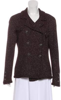 Chanel Metallic Tweed Blazer