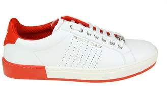 """Philipp Plein Sneakers """"another Night"""" In White Leather"""