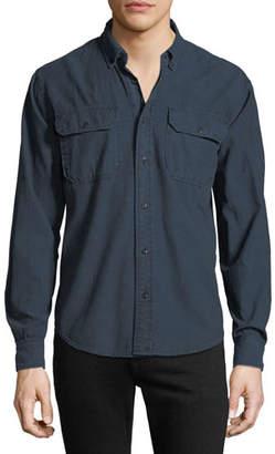 Hudson Men's Chambray Long-Sleeve Sport Shirt