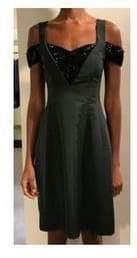 Prabal Gurung R18D02-EB BLACK CUTOUT EMBROIDERED DRESS